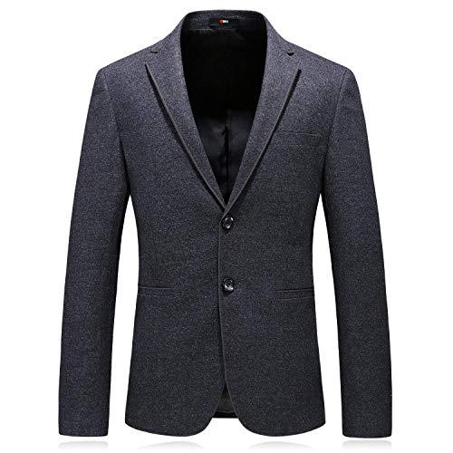Classique Slim Veste Nner Grau Tuxedo Mariage Élégant Costume Hommes Manches Soirée Fit De Blazer À Longues wqfaxX1nrw