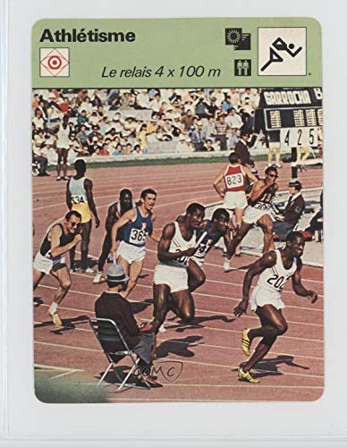 Le relais 4 x 100 m Ungraded COMC Good to VG-EX (Trading Card) 1977-79 Sportscasters - Series 53 - French Lausanne A #53-03
