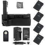 Battery Grip Bundle F/ Nikon D3400: Includes Vertical Battery Grip, 4-Pk EN-EL14a Long-Life Batteries, Charger, UltraPro Accessory Bundle