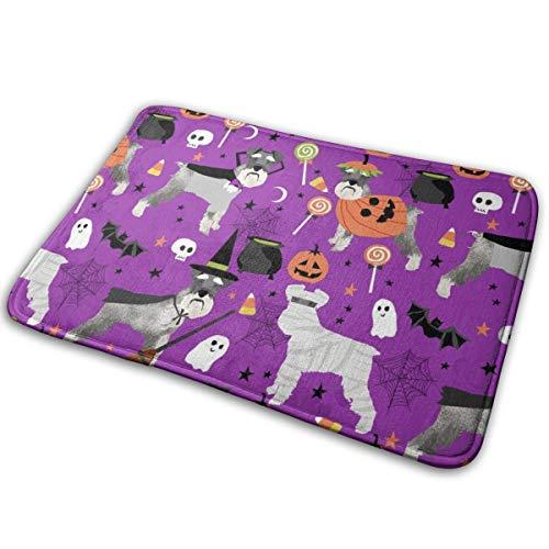 shirt home Schnauzer Dog Halloween Spooky Dog Costumes - Purple_26353 Doormat Entrance Mat Floor Mat Rug Indoor/Outdoor/Front Door/Bathroom Mats Rubber Non Slip 23.6