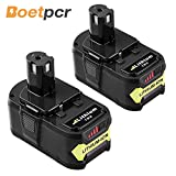 2 Pack P108 4.0Ah Replace for Ryobi 18V Battery ONE+ P102 P103 P104 P105 P107 P109 P122 Cordless Power Tools