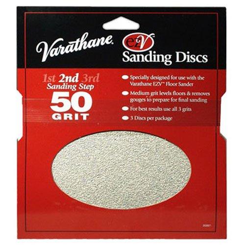 Rust-Oleum 203937 Varathane 50 Grit Sand Discs for EZV Floor Finish Sanders, - Ezv Discs Sanding