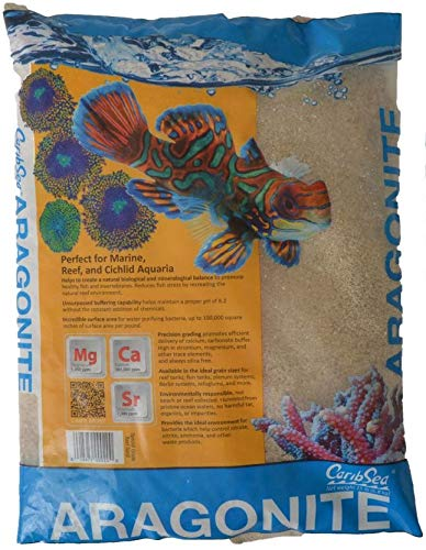 CaribSea Dry Aragonite Special Grade Reef Sand 15 lb (Reef Sand Alive)