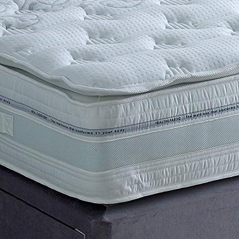 The Luxury Bed Co. Almohada de látex de 1000 Bolsillos, cómoda y de Apoyo