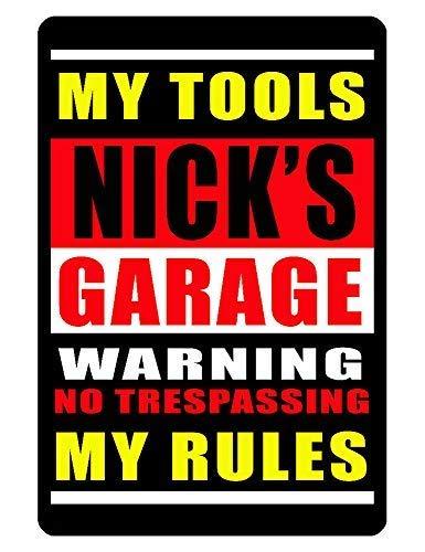 Cartel Personalizado de Garaje Impreso con Texto en inglés ...