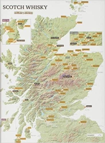 Whisky Karte Schottland.Whisky Distilleries Collect And Scratch Print Amazon De Maps
