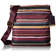 TUMI Voyageur Calera Crossbody, Plum Stripe, One Size