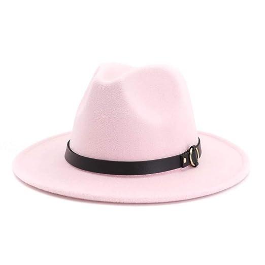 KFEK Sombrero de Lana Rizado clásico británico para Damas y ...