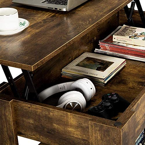 home, kitchen, furniture, living room furniture, tables,  coffee tables 10 picture Yaheetech Rustic Lift Top Coffee Table w/Hidden deals