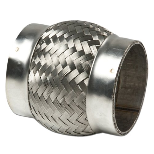 "3"" Inlet Stainless Steel Double Braided 2.25"" Flex Pipe Connector (4"" Overall Length)"