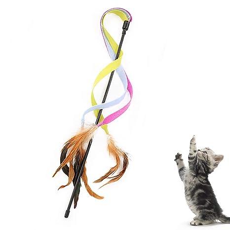 Feli546Bruce Juguete para Gato, Juguete para Gatos, Cinta Colorida ...