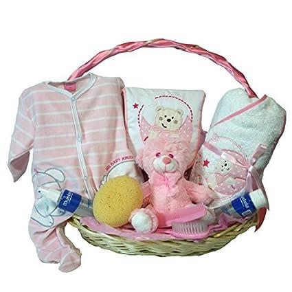 Cesta recien nacido - Hora del baño optima rosa - Canastilla regalo ...