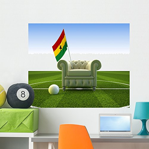 Wallmonkeys Ghana Soccer Fun Wall Mural Peel and Stick Graphic (36 in W x 30 in H) WM283041 ()