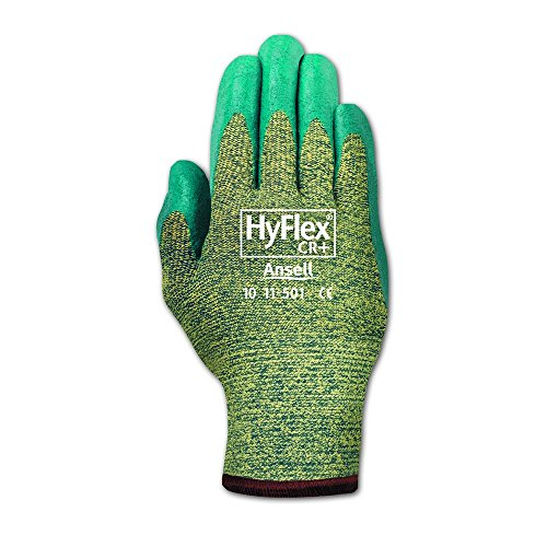 Ansell 103365 HyFlex 11-501 Nitrile Foam Coated Stretch Lined Gloves, 0.33'' Height, 10'' Length, 4'' Wide, Size 7, Blue (Pack of 12) by Ansell (Image #2)