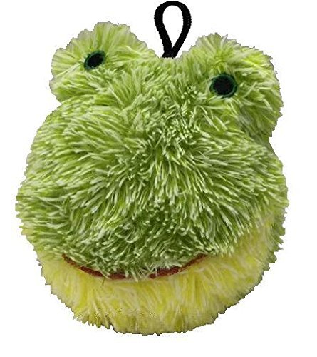 4 Inch Ez Squeaky Frog Round Dog Toy By Petlou