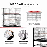 VIVOHOME 53 Inch Wrought Iron Large Bird Cage