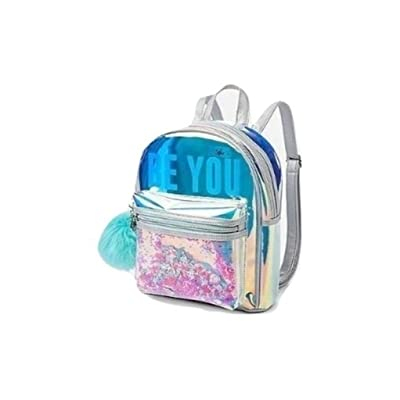 Live Justice Holographic Mini Backpack BE You with Shakey Mermaid Glitter: Toys & Games