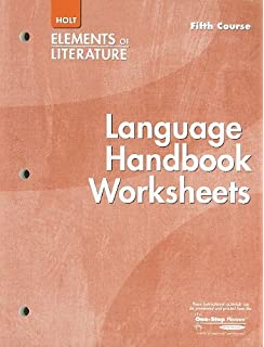 Printables Language Handbook Worksheets Answer Key Online elements of literature fifth course grade 11 language handbook worksheets course
