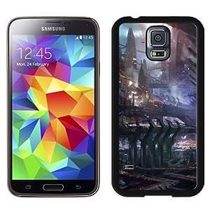 NEW Unique Custom Designed Samsung Galaxy S5 I9600 G900a G900v G900p G900t G900w Phone Case With Science Fiction City Illustration_Black Phone Case