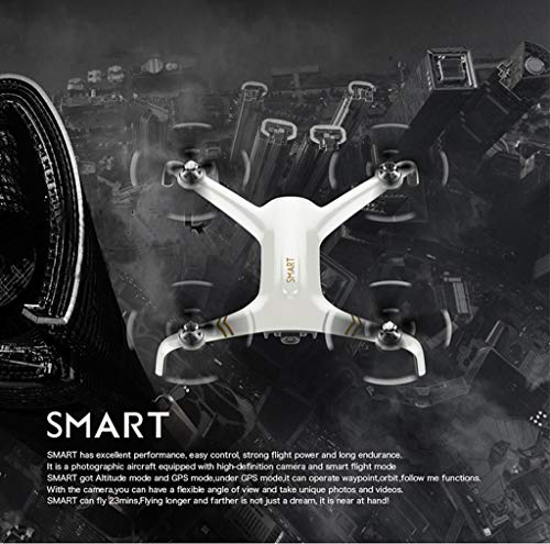 MOZATENEW C-Fly Smart GPS 2.4G WiFi FPV 1080P HD Cam Foldable Brushless RC Drone Quadcopter (White) by MOZATE (Image #2)
