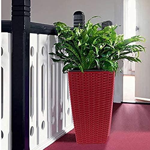 水やりフラワーポット怠惰なストレージデラタンスタイル自動開花プラスチックの植木鉢