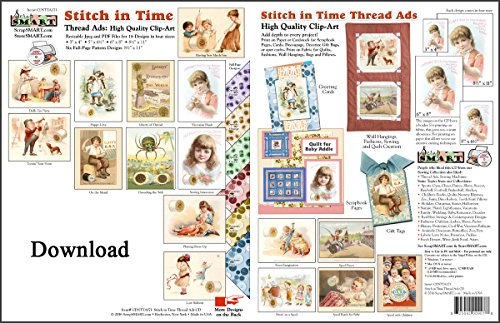 ScrapSMART Stitch in Time: Vintage Thread Ads Collection Software in Jpeg and PDF Files for Mac [Download] by ScrapSMART