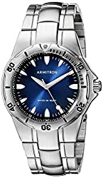 Armitron Men's 20/5080DBSV Degrade Dial Silver-Tone Bracelet Watch