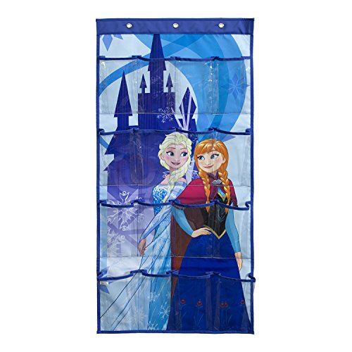 (Everything Mary Briteloft Disney Frozen Shoe Organizer | 16-Pocket Hanging Shoe Organizer for Closet and Bedroom Storage | Disney Over The Door Shoe Organizer for Children, Kids Toys)