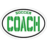 WickedGoodz Green Soccer Coach Vinyl Window Decal - Soccer Bumper Sticker - Perfect Youth Sports Gift