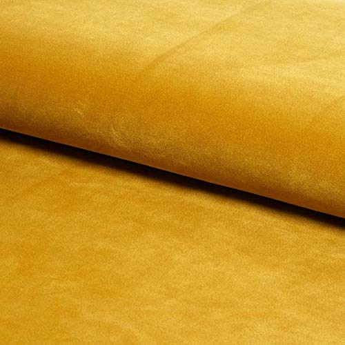 sleep zone Plush Velvet Fabric Upholstery Soft Feel Cushion Craft Mustard
