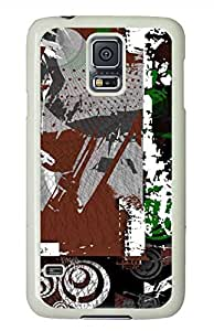 Graffiti 2 PC White Hard Case Cover Skin For Samsung Galaxy S5 I9600