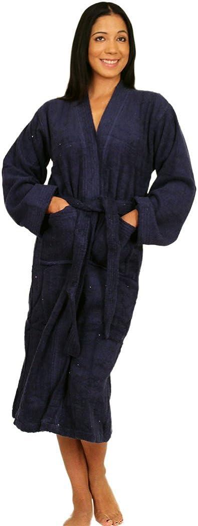 NDK New York Womens and Mens Terry Cloth Kimono Bath Robe Unisex 100/% Cotton