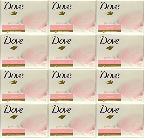 Dove Beauty Bar Pink Soap 4.75 oz / 135 Gr (Pack of 12 Bars)