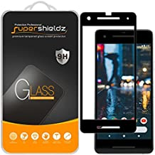 "[2-Pack] Supershieldz for Google ""Pixel 2"" Tempered Glass Screen Protector, Anti-Scratch, Bubble Free, Lifetime Replacement Warranty (Black)"