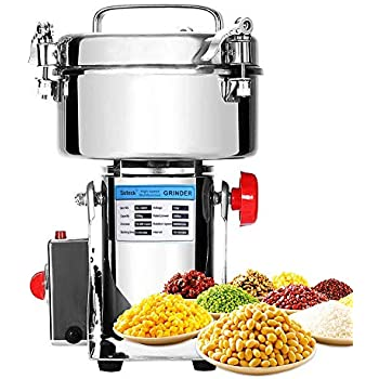 Electric Grain Grinder Mill 2000g Powder Machine High Speed Commercial Swing Type Grinder Machine for Herb Pulverizer Grinding Various Grains Spice