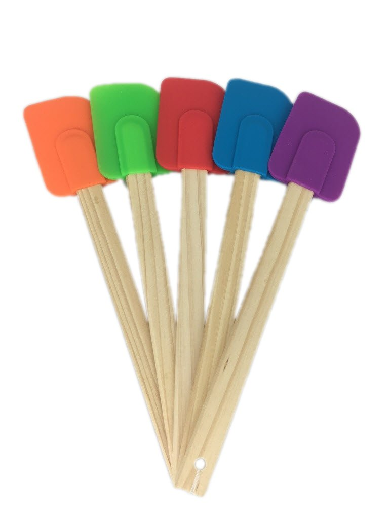 5 Piece Wood Handle Rubber Spatulas from Bamboo Style Concepts