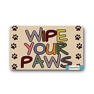 FavorPlus Wipe Your Paws Doormat Door Mat Machine Washable Rug Non Slip Mats Entrance Decor Area Rug 30x18 inch