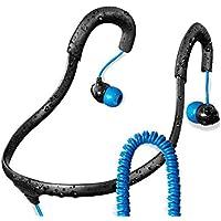 Surge Sportwrap+ IPX8 Waterproof Headphones   Neckband Headphones / In Ear Headphones   Sport Headphones w/ 3.5mm Headphone Jack   Noise Cancelling Headphones w/ 6 sets of Earplugs & 1 Year Warranty