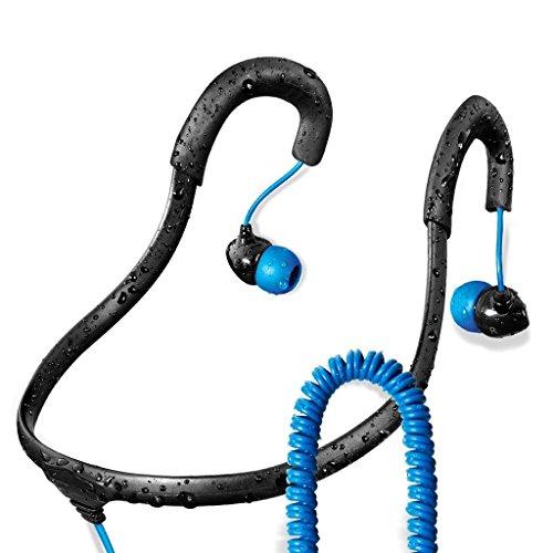 Surge Sportwrap+ IPX8 Waterproof Headphones | Neckband Headphones / In Ear Headphones | Sport Headphones w/ 3.5mm Headphone Jack | Noise Cancelling Headphones w/ 6 sets of Earplugs & 1 Year Warranty H20 Audio Waterproof Headphones