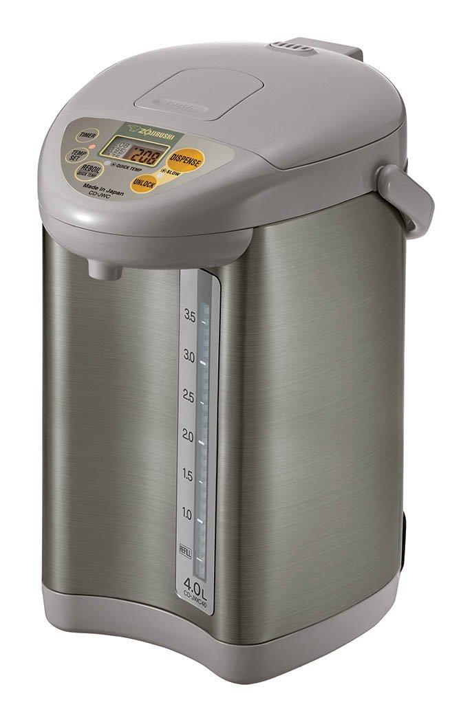 Zojirushi CD-JWC40HS Micom Water Boiler & Warmer, Silver Gray by Zojirushi