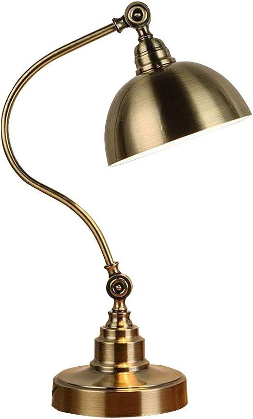 Lámpara De Mesa Vintage con Iluminación Giratoria De Sombra ...