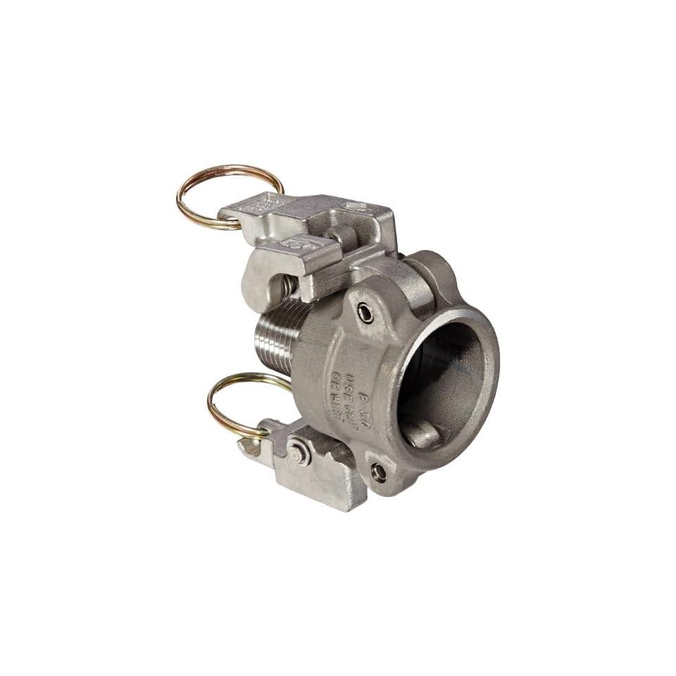 Dixon Valve RB050EZ Stainless Steel 316 EZ Boss Lock Type B Cam and Groove Fitting, 3/4 Socket x 1/2 NPT Male