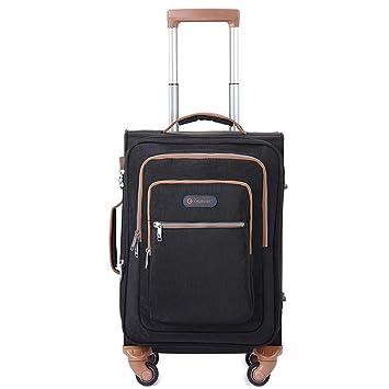 TY&GH TSA Customs Lock, Carrito De Equipaje para Ruedas Universales - Maleta Móvil Extensible Que
