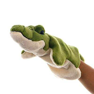 Foreen Cute Crocodile Plush Stuffed Doll Long Sleeve Hand Puppet Storytelling Toy Party Favor Gifts Toys for Boys Girls Kids Toddlers Light Green: Home & Kitchen