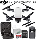 DJI Spark Portable Mini Drone Quadcopter Alpine White Starters Bundle