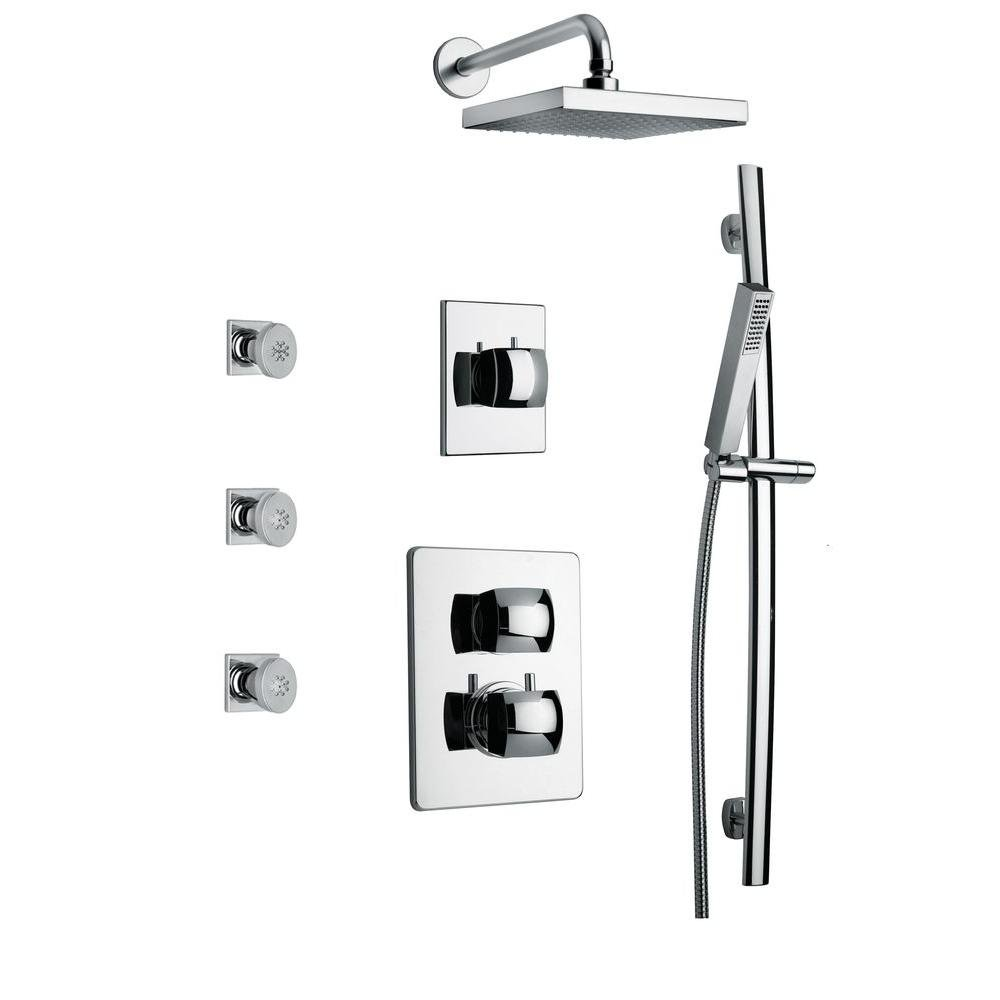 LaToscana LA-OPTION7CR Lady Thermostatic Valve with 3/4'' Ceramic Disc Volume Control, Chrome by La Toscana