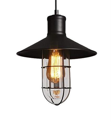 Moda Vintage lámpara de alambre jaula pantalla DIY lámpara ...