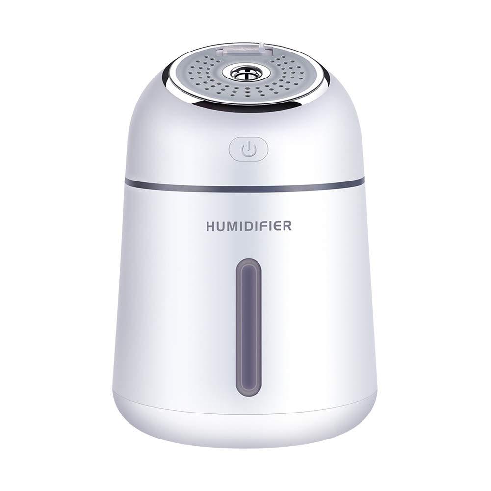 B5645ells USB Desktop Luftreiniger Aromatherapie LED-Lichtnebel Diffusor Home Luftbefeuchter - Weiß