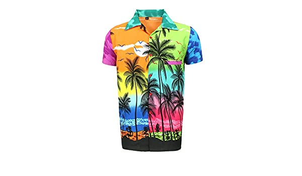 Camisa Hawaiana para Hombre, diseño de Palmeras, para la Playa, Fiestas, Verano y Vacaciones - M: Amazon.es: Ropa y accesorios