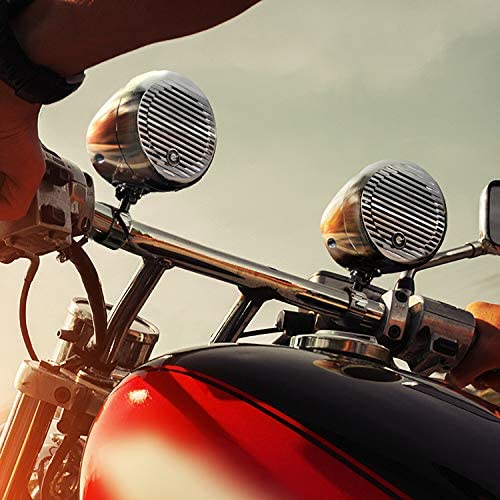Weatherproof Speakers // Amplifier Planet Audio PMC2C Motorcycle Speaker System One 2 Channel Amplifier Bluetooth Two 3 Inch Speakers One Volume Control Use With ATV//Motorcycle//12 Volt Vehicles
